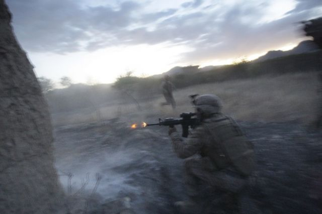 Marines an der Front (keystone)