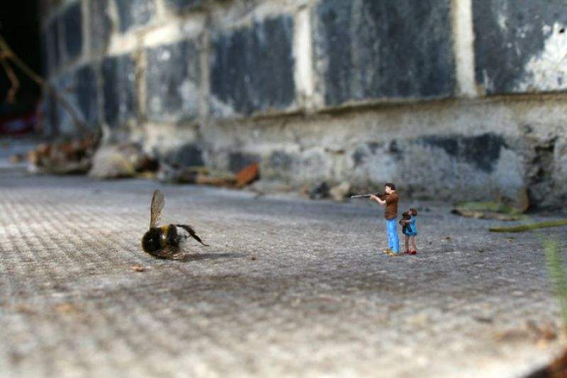 They are not pets (slinkachu)