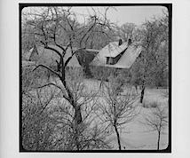 Blick auf Nachbarhäuser, 1962; © Arno Schmidt Stiftung Bargfeld