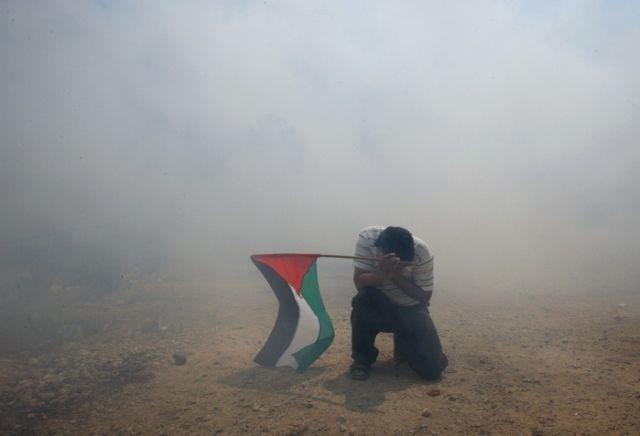 Palästinenser Demonstration (keystone)