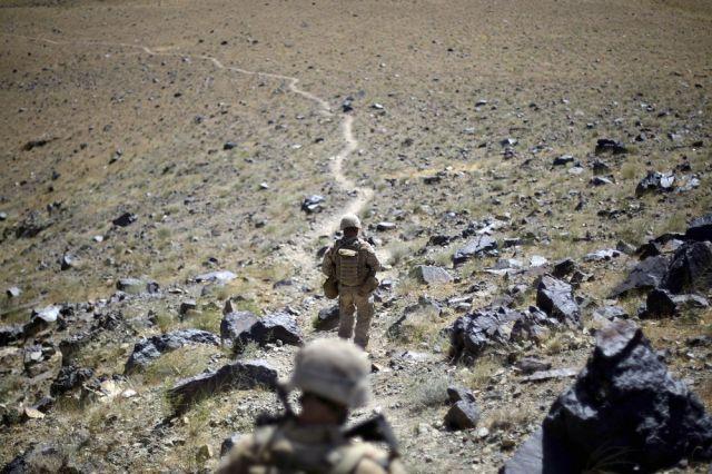 US-Soldaten auf dem Pfad in Helmand, Afghanistan (keystone)