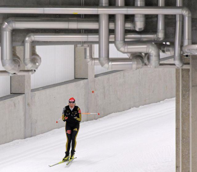 Trainieren im Tunnel (keystone)