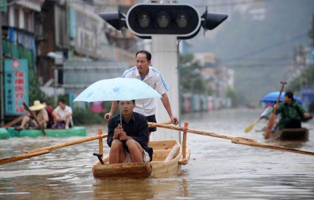 Flutung in China (keystone)