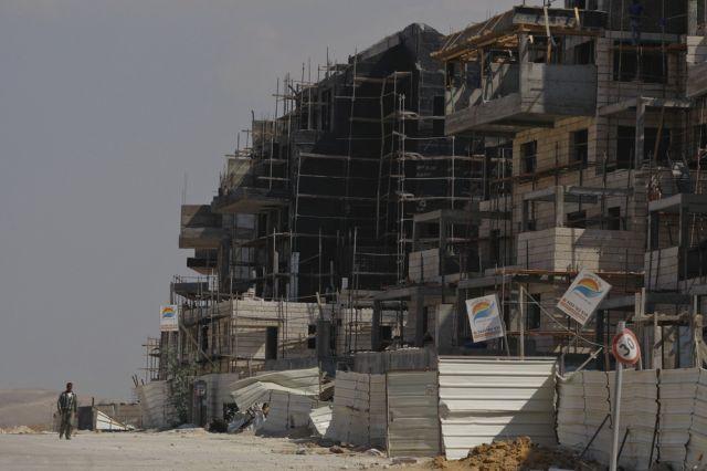 Palästinensische Baustelle (keystone)