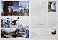 Es gibt durchaus auch Text: der Beitrag über das Adidas-Shooting hoch in den Dolomiten fasziniert durch Text und Bilder.
