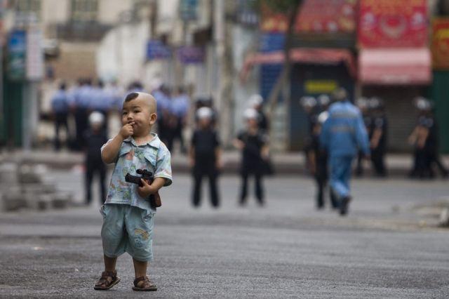 Uigurischer Junge (keystone)