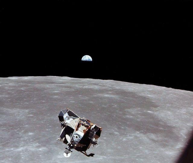 Nasa: Der Eagle vor der Landung auf dem Mond (keystone)