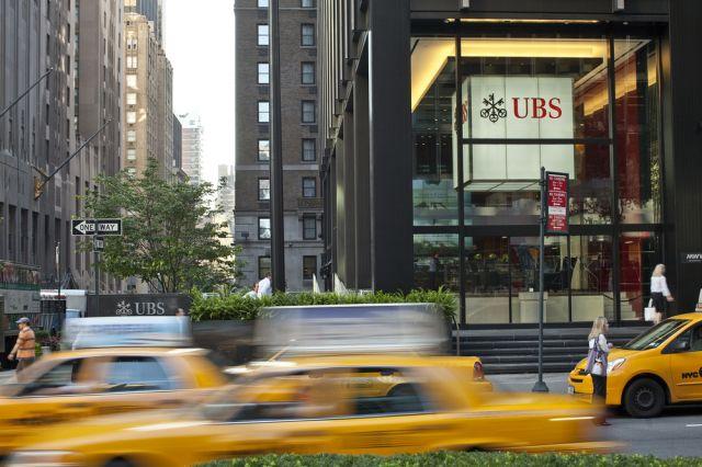Die Symbole von New York und die UBS (keystone)