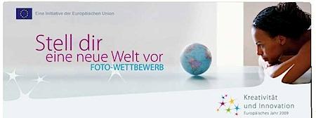 Titel der Website www.imagine2009.eu zum Fotowettbewerb der Europäischen Kommission