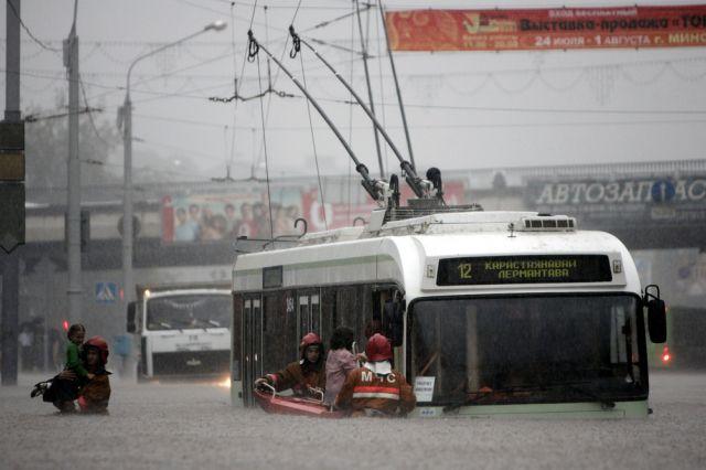 èberschwemmungen in Minsk (keystone)