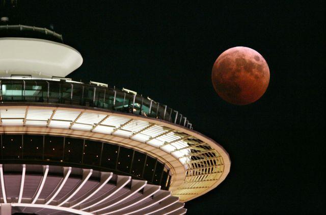 Mondfinsternis 2004 in Seattle (keystone)