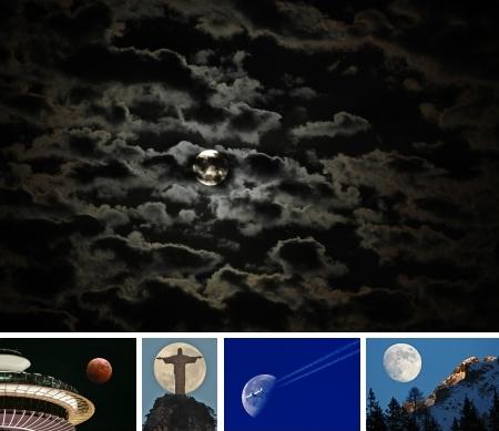 Mond mit Vordergrund: Klick für Legende und Vollansicht. (Bilder keystone)