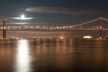 Baybridge im grellen Mondenschein: Ein Stativ vorausgesetzt, kann mit der Digitalkamera die Nacht problemlos zum Tag gemacht werden.