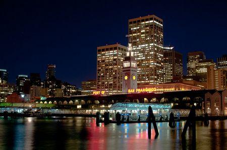 San Francisco, Ferrybuilding vom Pier 1 aus gesehen