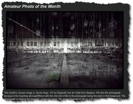 Sony World Photographic Awards, Bild des Monats von Reginald Van der Velde: Die Kleiderkörbe der Kumpel in der stillgelegten Zeche Hugo 1/3