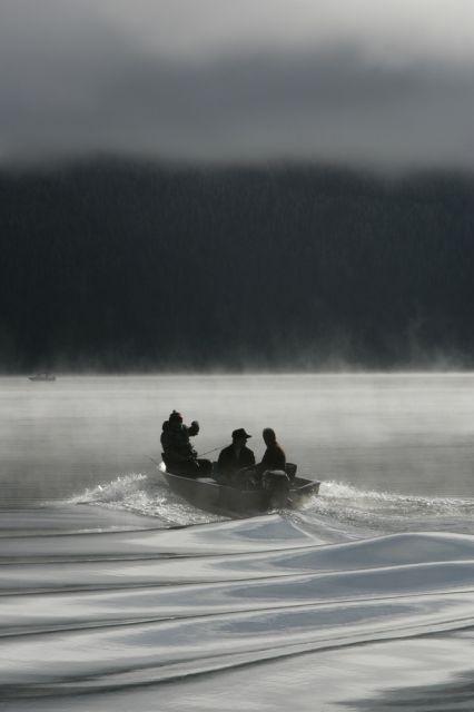 Angler im Morgengrauen (keystone)