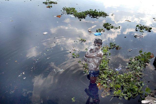 Wasserverschmutzung Indien (keystone)