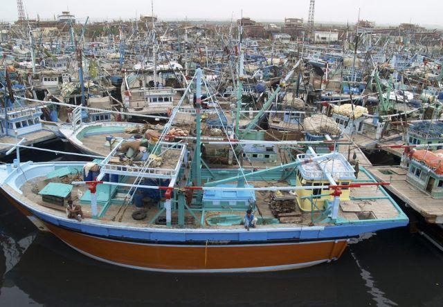 Pakistanische Fischerboote (keystone)