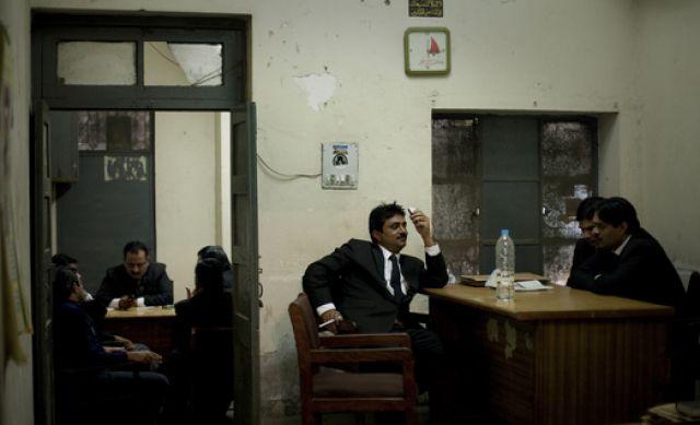 Pakistani Anwälte (keystone)