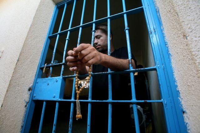 Palästinenser im gefängnis (keystone)