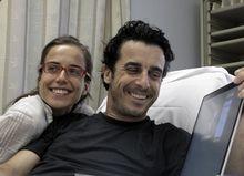 Emilio Morenatti und Frau Marta. (keystone)