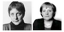 Angela Merkel, Bonn, 1991 und 2006.
