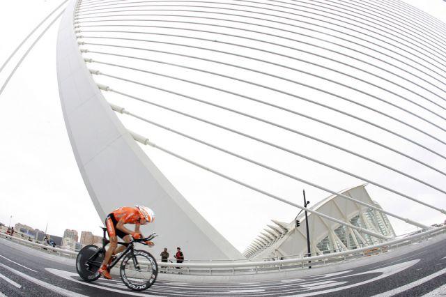 Spanischer Fahrradrennfahrer (keystone)