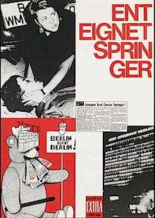 Plakat der Studentenbewegung