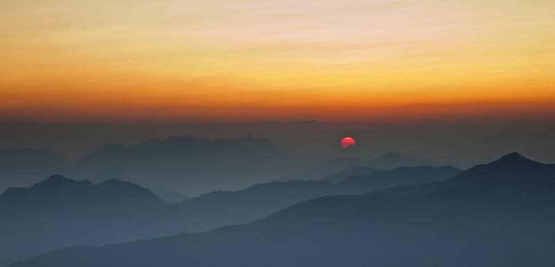Sonnenaufgang-Foto: Weniger ist mehr