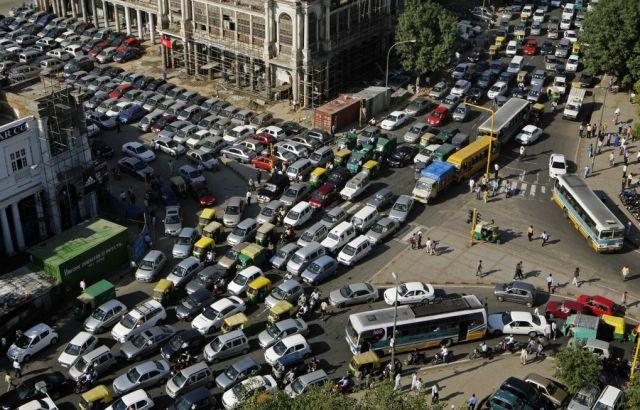 Verkehrsstau in Neu Delhi (keystone)