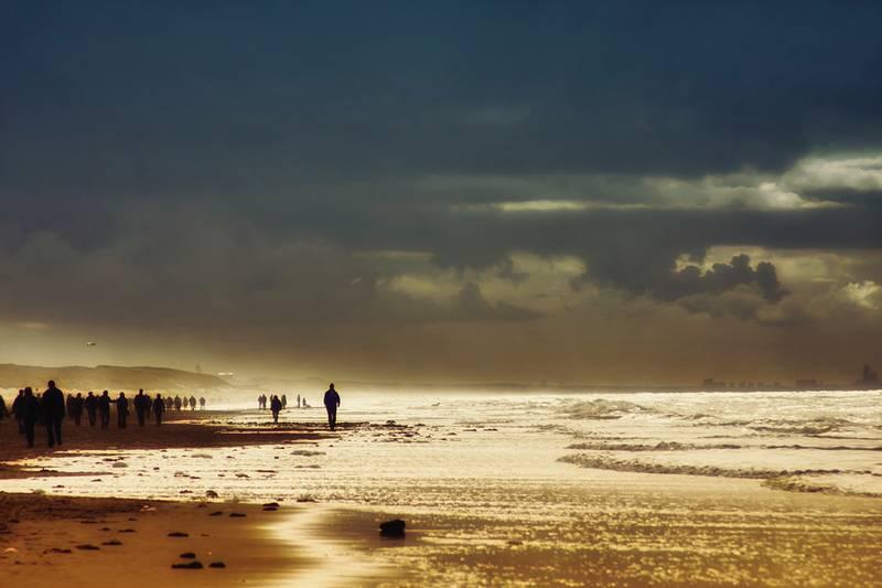 Strandfoto: Endzeit-Leuchten