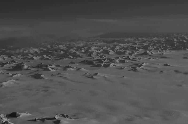 Mondlandschafts-Fotografie: Grönland im Überflug