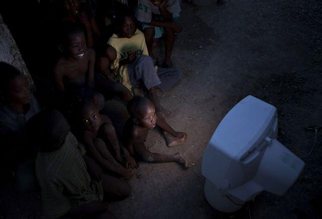 Tv in Haiti (keystone)