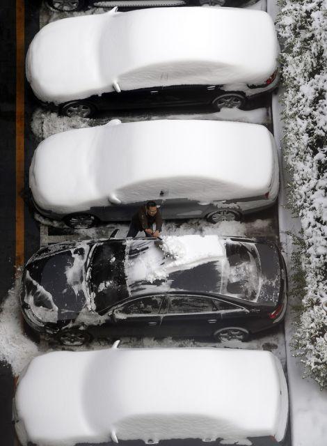 Schnee in China (keystone)