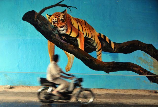 Wandgemälde in Indien (keystone)
