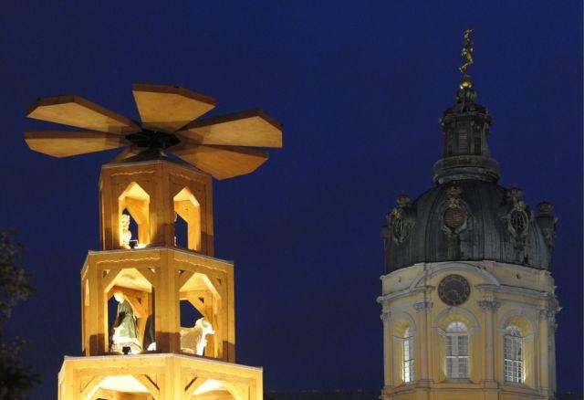 Weihnachtsmarkt vor dem Schloss Charlottenburg (keystone)