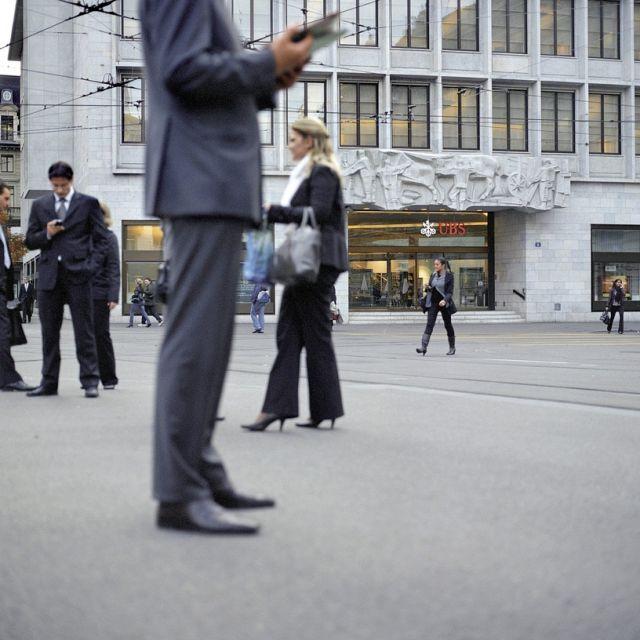 Finanzplatz Zürich´ von Gaëtan Bally, Preisträger der Kategorie Aktualität, Swiss Press Photo 2009 (Keystone/SWISS PRESS PHOTO/Gaetan Bally)