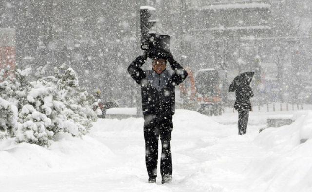 Schnee, Winter, Mann