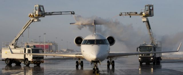 Flugzeug, Technik, winter