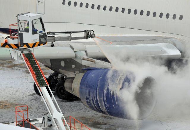 Winter, Flugzeug