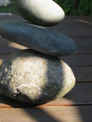 Steinstapel: Oberflächenfaszination