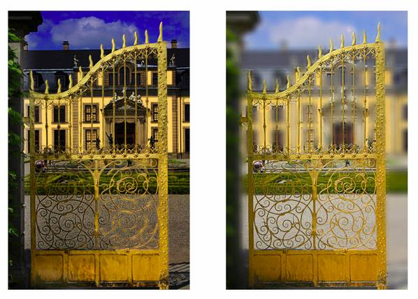 Schlosstor: Goldene Aussichten