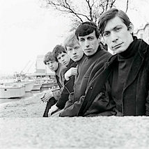 Philip Townsend: Rolling Stones. On the Thames Wall - first shoot ever, 1963  Philip Townsend Archive LTD