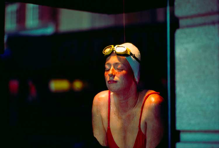 Ernst Haas: A female swimmer, June 1981. (Photo by Ernst Haas/Hulton Archive/Getty Images)