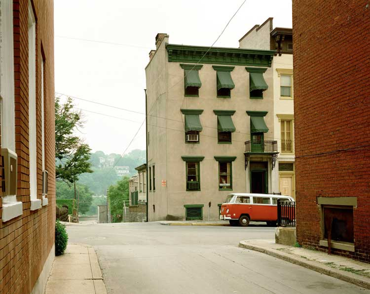 Stephen Shore: Church Street and Second Street, Easton, Pennsylvania, June 20, 1974, (c) Stephen Shore, Courtesy 303 Gallery New York