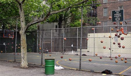Basketball Court, West 4th Street, New York.  2009 Samuel Raymann