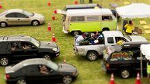 Sam O'Hare: Mehr Autos, mehr Menschen - mehr Ameiseneindruck.