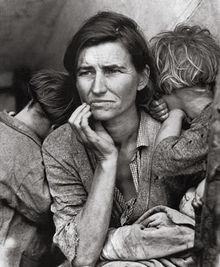 Dorothea Langes 'Migrant Mother': Nach 20 Meilen Umweg entstanden.