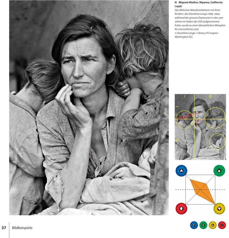 Dorothea Langes Migrant Mother als Bildbeispiel im Vier-Augen-Modell