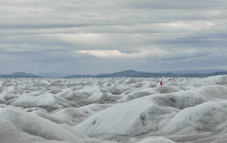 Arktislandschaft: Eis wohin das Auge blickt